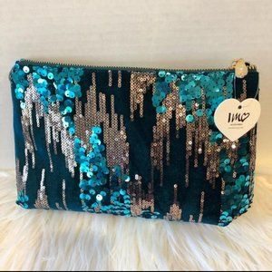 Imoshion Velvet Sequin Accent Cosmetic Bag
